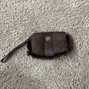 Ugg Brown Suede Wristlet